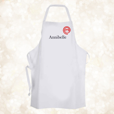 Personalised Master Chef TV Baking Cooking Apron Unique Gift Birthday Christmas