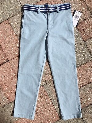 Boys size 5 - POLO RALPH LAUREN BELTED PANTS Light Blue Hampton NWT NEW WITH TAG