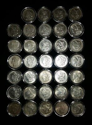 34 Morgan and Peace Silver Dollar Lot not cull or junk some may be VF maybe AU