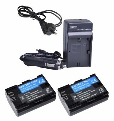 LP-E6N 1865mAh Battery / Charger For Canon EOS 7D 70D 60D 6D 5D Mark II III IV