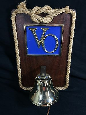 Seagram's VO Whiskey Sign Nautical Bell Rope Bar Pub Man Cave
