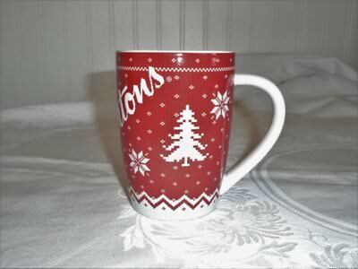 Tim Horton's Limited Edition Coffee Mug Cup 2015 # 015 Snowflake Sweater Look