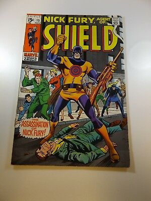 Nick Fury Agent of SHIELD #15 1st appearance of Bullseye FN condition