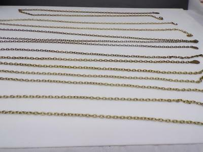 Large Lot various  German Brass Weight Driven Grandfather Wall Clock Chain D521a