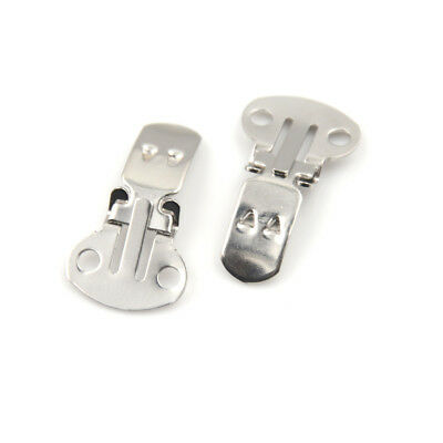 20pcs Stainless Steel Shoes Flower Clips On Findings Buckle Craft Supplies UK