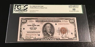 Fr 1890-B 1929 $100 FRN New York PCGS Choice About New 55