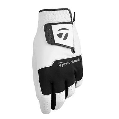 TaylorMade Stratus All Leather Men's 2018 Golf Glove White - Pick Size