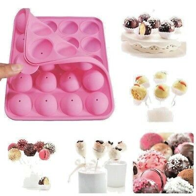 Bakeware Silicone Best Cup CAKE POP SET Mould Maker Baking Tray with 20 Sticks