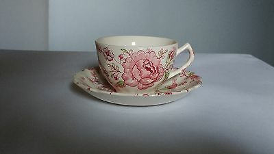 Johnson Brothers MADE IN ENGLAND Rose Chintz Cup & Saucer Set (s)