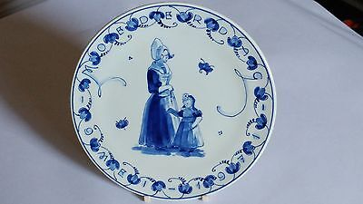 Royal Delft Handpainted Moederdag Mother's Day Plate 1971 Holland Volendam DH CP
