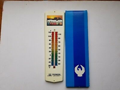 NIB MINT 1970s PIONEER SEED CORN Thermometer Sign