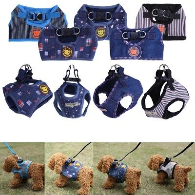 Stripes Pet Vest Traction Rope Puppy Dog Chest Leash Walking Strap Harness Cloth