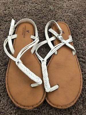 American Eagle Sandles Women's Size 10 Brown And White