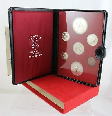 1973 Royal Canadian Mint Seven Coin Set Silver Dollar in Display Book