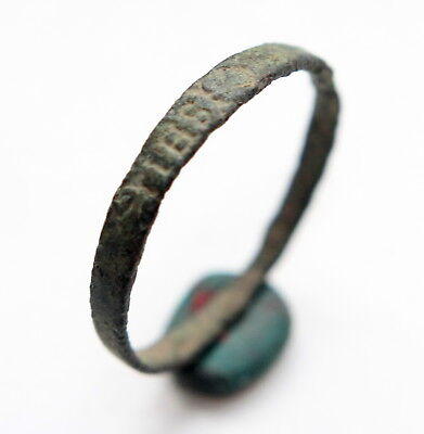 Ancient Medieval Religious Finger Ring Inscription ''I.H.S.'' (MAR01)