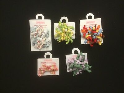 GYMBOREE HAIR ACCESSORIES New on Card 5 pairs