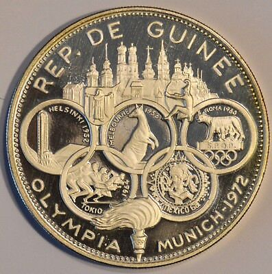 Guinea Proof Silver 1970 (1970) 500 Francs Guineens 1972 Olympics KM# 15