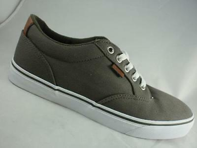 MEN S VANS WINSTON Green Canvas Athletic Skate Casual Sneakers Shoes ... 8607e253a