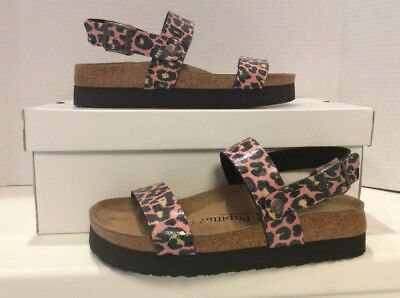 a22a9094c2a3 Papillio Birkenstock Cameron Women s Size 7 Narrow Leo Coral Sandals ZB1-110