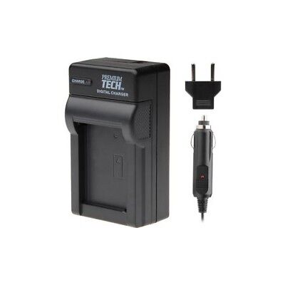 Premium Tech Professional Home and Car Battery Charger 110/240V for Camera
