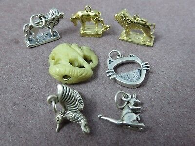 Vintage Silver - Lot of 7 - Charms Animal Themed 25.9 G