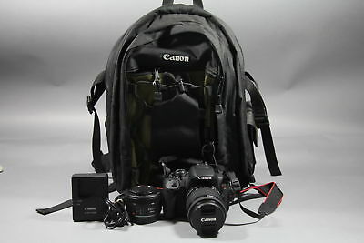 Canon EOS Rebel T5i DSLR Camera comes w/ 18-55mm AND 50mm 2451 Shutter