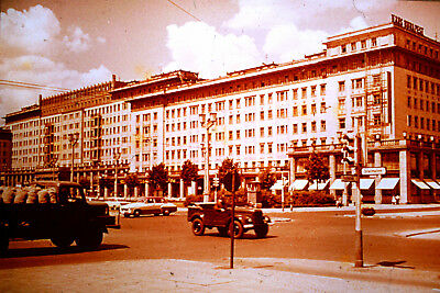 Privat Dia Foto Berlin Stalinallee Karl Marx Allee 91 Haus Budapest DDR 1961