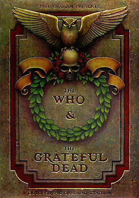 THE WHO - GRATEFUL DEAD Concert Poster Print / Pete Townshend / Jerry Garcia