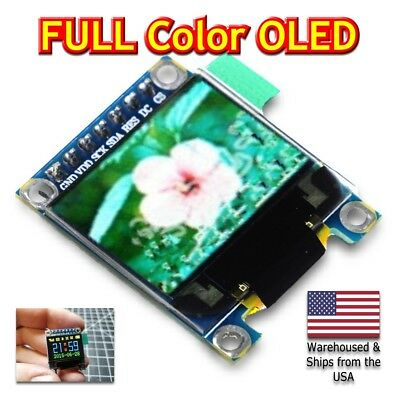 """0.95"""" inch SPI FULL Color OLED Display Module SSD1331 96x64 for Arduino, Pi, IOT"""