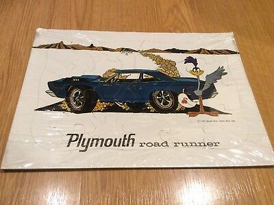1967 Plymouth Road Runner 383 Puzzle Dealer Promo VTG Rare Warner Brothers