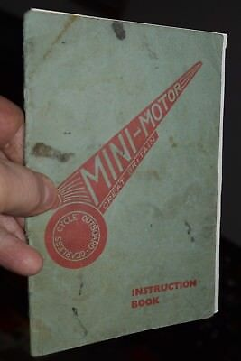 antique MINI-MOTOR GREAT BRITAIN motorcycle outboard bicycle motor manual
