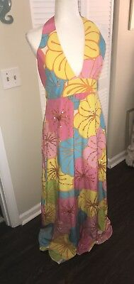 144a69c6ba52fe Lilly Pulitzer Showstopper Gown Maxi Dress Silk Sequin 12