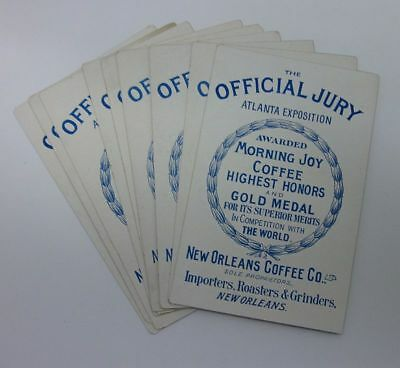 Lot (9) 1800's Advertising Trade Cards New Orleans Coffee Co LA Louisiana bv5794