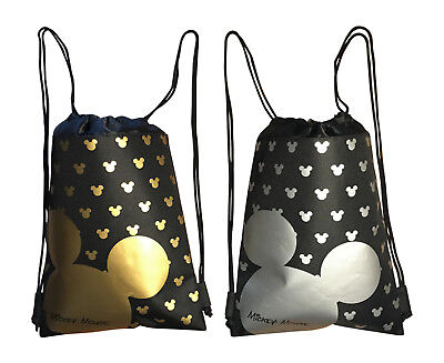 Disney Mickey Mouse Drawstring Backpacks  2 Of Pack