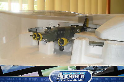 Franklin Mint Die Cast Air Craft 1:48 Junker Ju52 Crete Camp Aign-Dc1