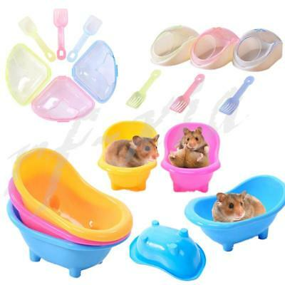 Pet Small Animal Hamster Squirrel Bath Tub Room Bathing Bathroom Toilet Plastic
