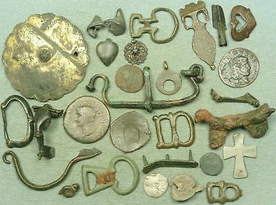 Lot Of Misc. Ancient Bronze / Lead / Silver Artifacts
