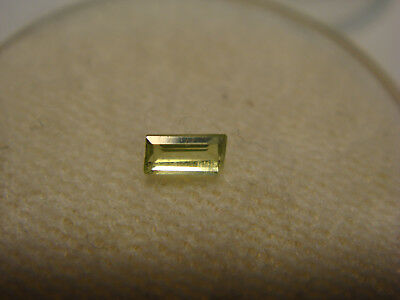 Peridot Baguette Cut Gemstone 4 mm x 2 mm 0.10 Carat Natural Gem