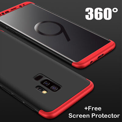 For Samsung S9 Plus Hybrid Armor 360° Full Protect Case Cover +Screen Protector