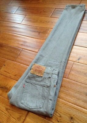 VTG USA Levis 501 Button Fly High Waist Mom Jeans Grey SZ 12 W27 L32 GORGEOUS!