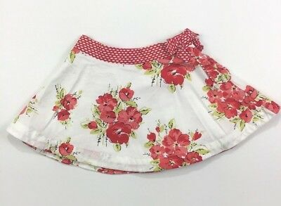 Janie & Jack Girls 12-18 Months Camellia Summer Red Floral Skirt