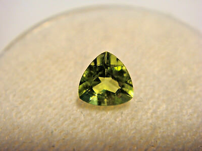 Peridot Trillion Cut Gemstone 5 mm x 5 mm 0.50 Carat Natural Gem