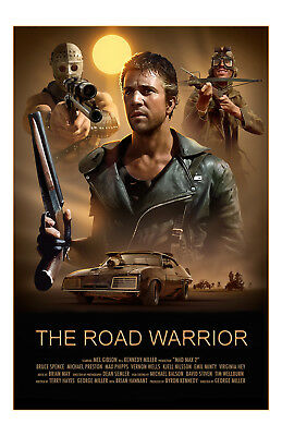 Mad Max The Road Warrior 1981 Movie Poster 11x17 in / 28x43 cm Mel Gibson