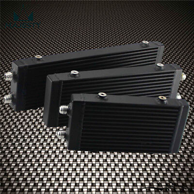 "Universal Medium Bar and Plate Dual Pass Black Oil Cooler Core:14""x5.5""x1.58"""