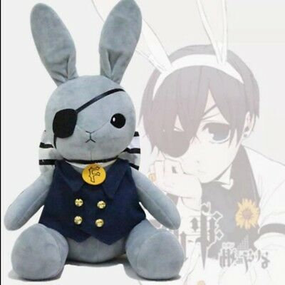 Anime Kuroshitsuji Black Butler Ciel Phantomhive Rabbit Plush Soft Doll Toy 12""