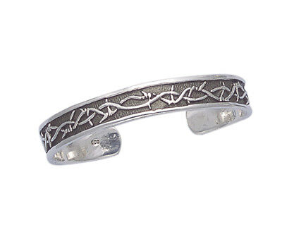 Sterling Silver Motorcycle Design Cuff Bangle Bracelet BA72