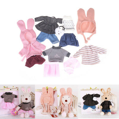 30cm Doll Clothes For Bunny Rabbit Cat Plush Toys Dress Sweater For 1/6 BJD Doll