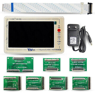 TV Mainboard Tester Tools Vbyone&LVDS to HDMI Converter With Seven Adapter Plate