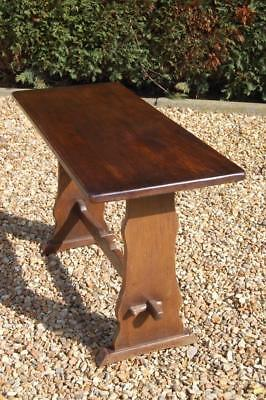 Refectory Style Dark Oak Occasional Hall Console End Table Small Desk