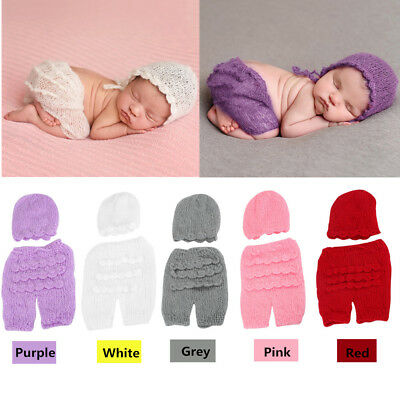 Cute Newborn Baby Boys Girls Knit Costume Prop Outfits Photo Photography 5Colors